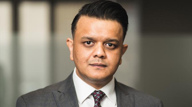 Portrait photograph of Syed Rahmen