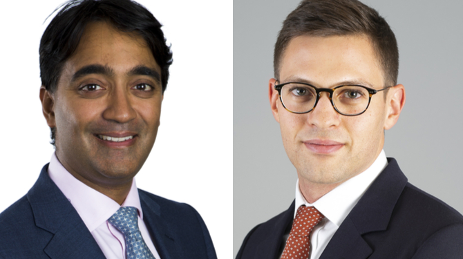 Portrait photographs of Vijay Rathour (left) and Sam Goodman