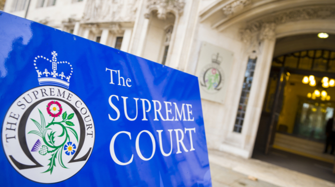 Entrance to the Supreme Court of the United Kingdom in London