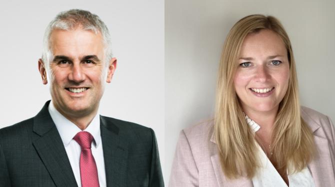 Headshots of Ross Munro and Pippa Garland