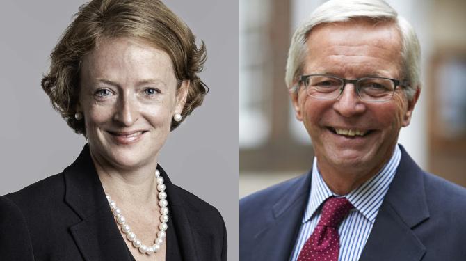Headshots of Ania Farren and John Judge