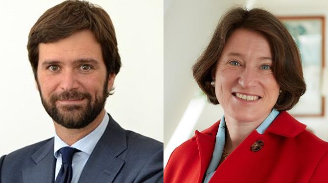 Portraits photographs of Francesco De Blasio and Kirsty Wilson