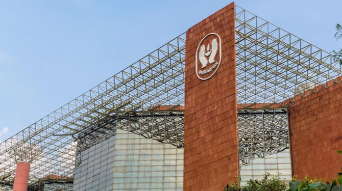 The LIC building in New Delhi