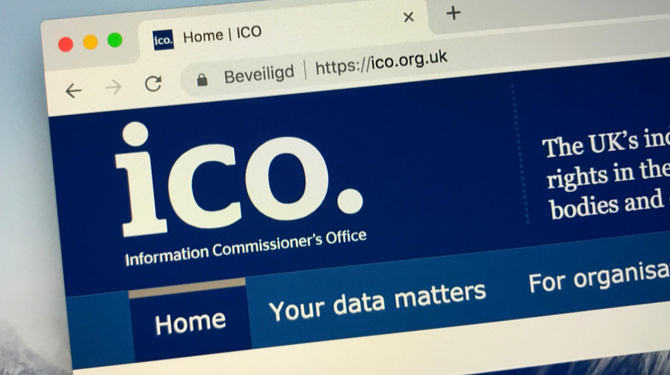 Website of The Information Commissioner's Office of the the United Kingdom.
