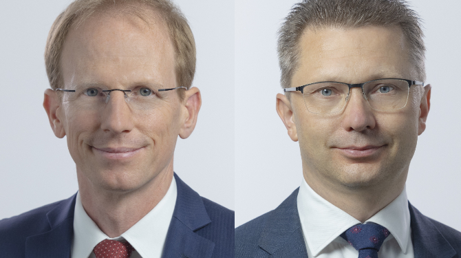 Portrait photos of Bernd Geier (left) and Stephan Krampe