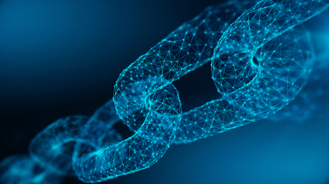 Concept illustration depicting blockchain