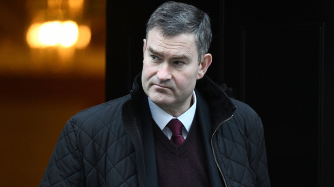 David Gauke leaving a cabinet meeting at 10 Downing Street