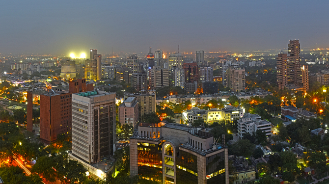 View of central New Delhi