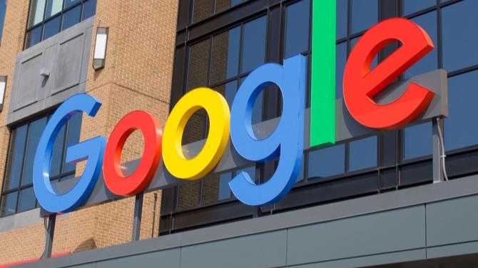 A photograph of a Google office