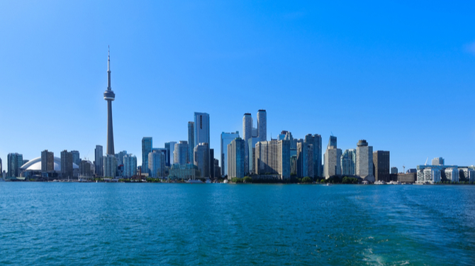 A photograph of Toronto