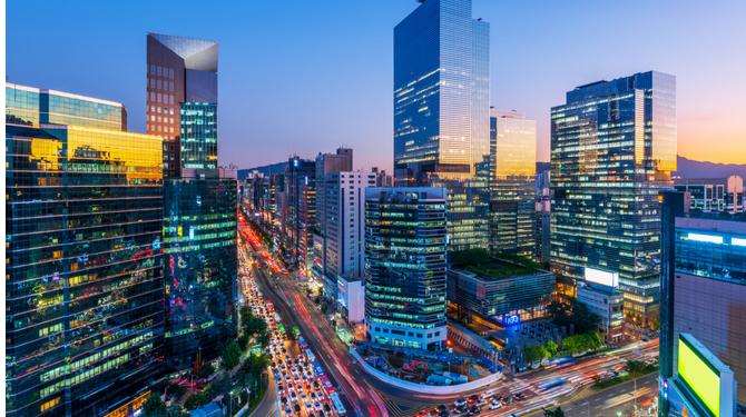 Gangnam square,South Korea