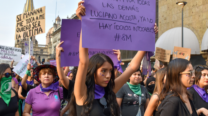 Pic of Mexico women's day march