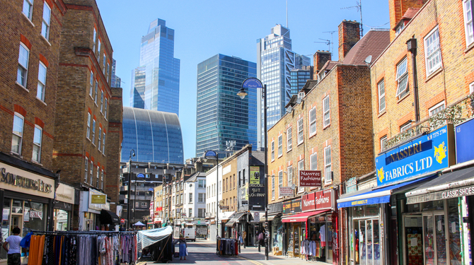 Petticoat Lane Market - a traditional clothing market in East London