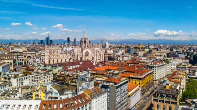 Image of central Milan