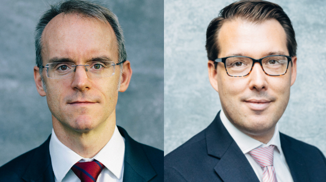 Portrait photos of Ian Gill (left) and Dan Byrne
