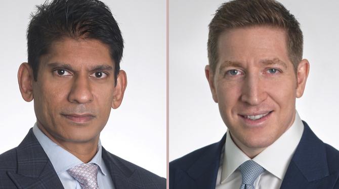 Portrait photographs of Monoj Purushothaman and Simon