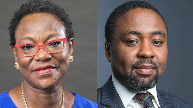 Headshots of Kofo Dosekun and Reginald Udom